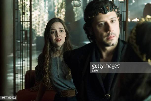 THE MAGICIANS 'Poached Eggs' Episode 307 Pictured Brittany Curran as Fen Hale Appleman as Eliot Waugh