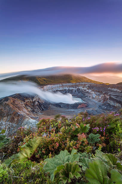 Poas Volcano Crater At Sunset, Costa Rica Wall Art