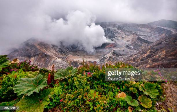 Poas Volcano Crater with great fumarole - Costa Rica