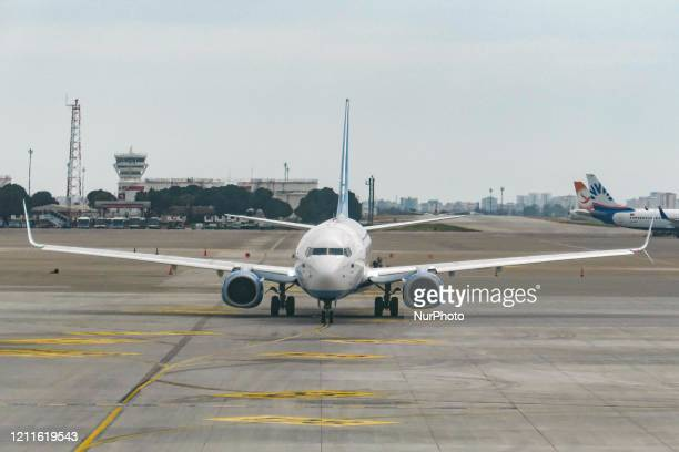 Pobeda Airlines LCC Boeing 737-800 commercial aircraft as seen on the tarmac at Antalya International Airport AYT LTAI in Turkey. Pobeda PBD DP is a...