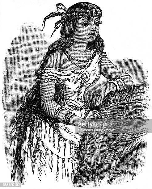 Pocahontas Book Illustration from ÒIndian Horrors or Massacres of the Red MenÓ by Henry Davenport Northrop 1891