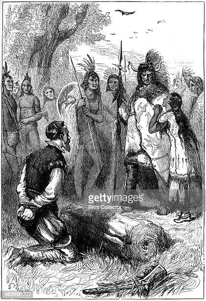 Pocahontas saves Captain Smith's life 1607 John Smith a member of the Jamestown colony in Virginia after being captured by Native Americans and...