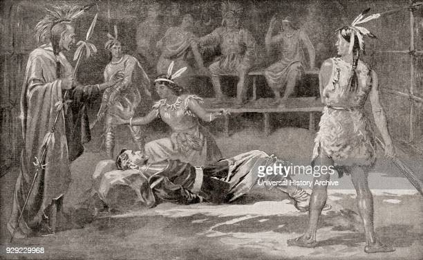 Pocahontas saving the life of John Smith in 1607 Captain John Smith 1580 – 1631 Admiral of New England English soldier explorer and author Pocahontas...