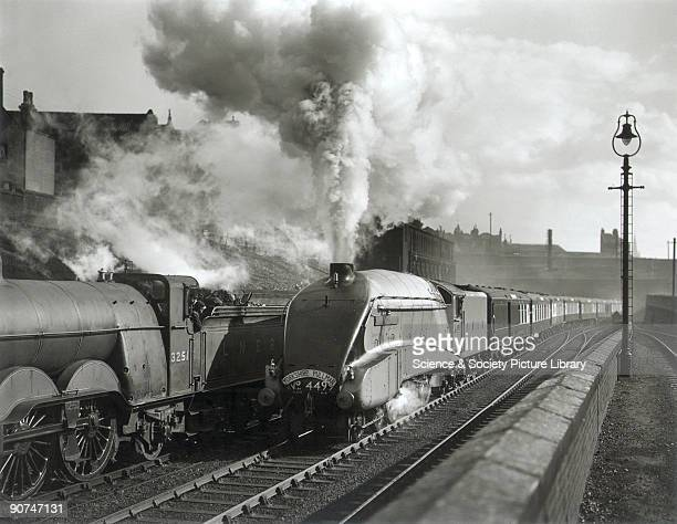 Pochard' steam locomotive Class A4 engine No 4499 hauling the down Yorkshire Pullman Kings Cross to Bradford Harrogate and Hull This locomotive was...