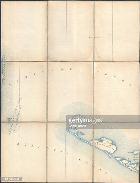 1887 Pocket Map Version of the US Geological Survey Map of western Nantucket Massachusetts