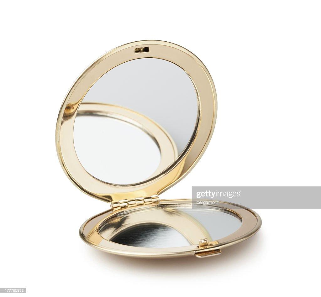 pocket mirror : Stock Photo
