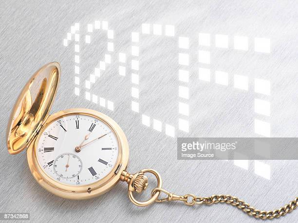 Pocket watch and digital time