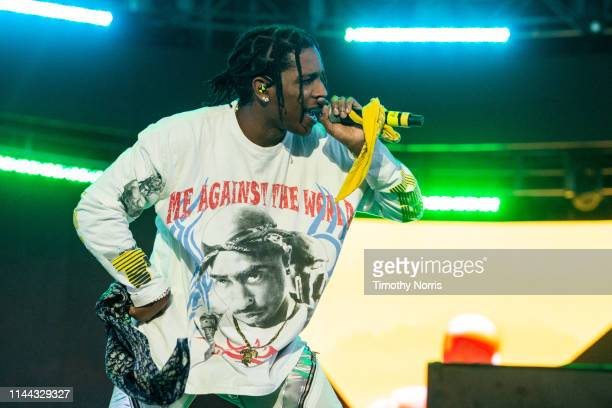 Pocky performs with YG during the 2019 Coachella Valley Music And Arts Festival on April 21 2019 in Indio California