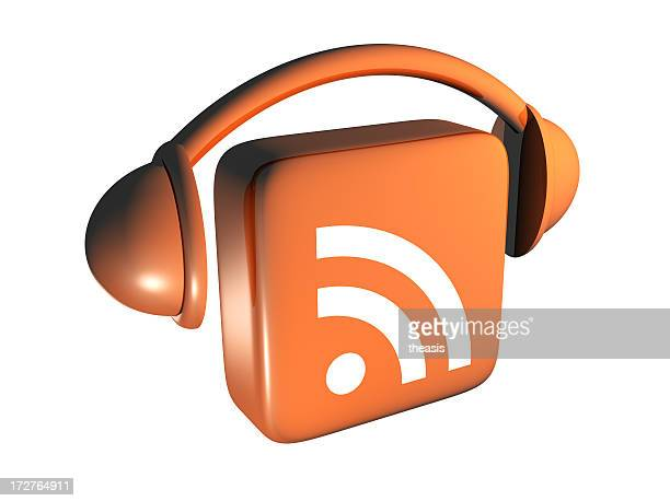 podcast icon - from above - theasis stock pictures, royalty-free photos & images