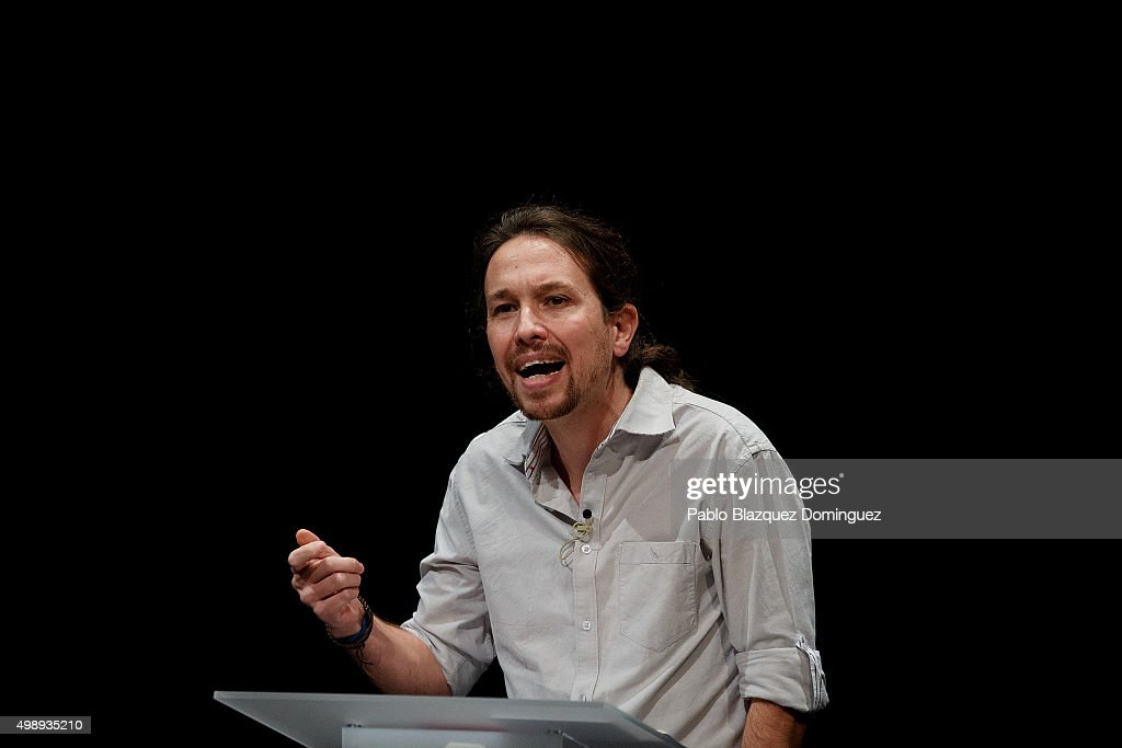 Pablo Iglesias And Albert Rivera Attend The First Ever Debate In A Public University : News Photo
