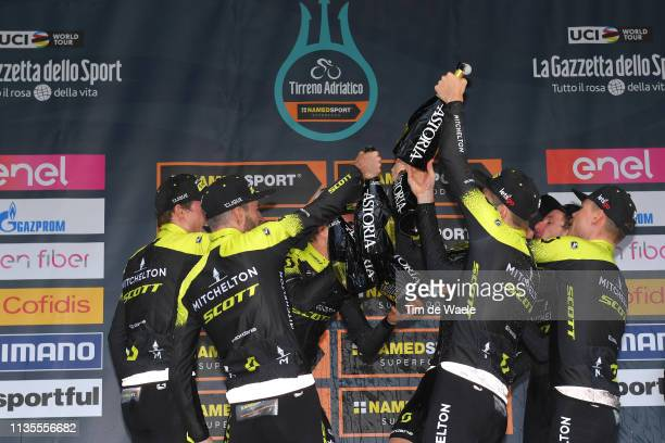 Podium / Adam Yates of he United Kingdom and Team Mitchelton - Scott / Alexander Edmondson of Australia and Team Mitchelton - Scott / Brent...