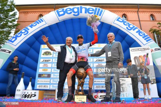 Podium / Adriano Amici of Italy Race Organiser / Bauke Mollema of Netherlands and Team TrekSegafredo / Gian Pietro Beghelli of Italy of Beghelli...