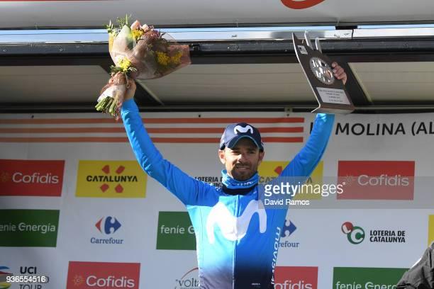Podium / Alejandro Valverde Belmonte of Spain and Team Movistar / Celebration / during the 98th Volta Ciclista a Catalunya 2018, Stage 4 a 170,8km...