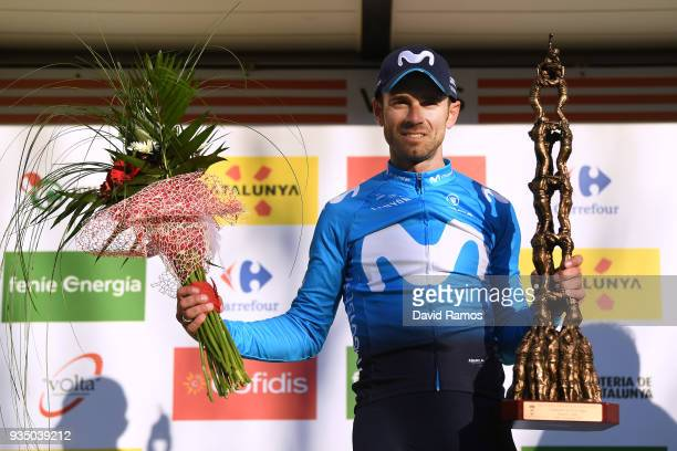 Podium / Alejandro Valverde Belmonte of Spain and Team Movistar / Celebration / Flowers / Trophy / during the 98th Volta Ciclista a Catalunya 2018...