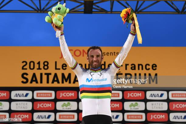 Podium / Alejandro Valverde of Spain and Movistar Team Celebration / during the 6th Tour de France Saitama Criterium 2018 a 589km race from Saitama...
