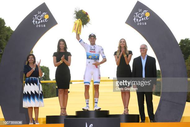 Podium / Alexander Kristoff of Norway and UAE Team Emirates / Celebration / during the 105th Tour de France 2018, Stage 21 a 116km stage from...