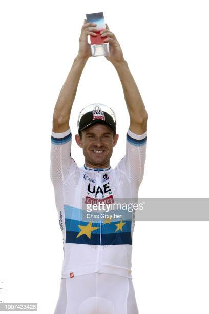 Podium / Alexander Kristoff of Norway and UAE Team Emirates / Celebration / Trophy / during the 105th Tour de France 2018, Stage 21 a 116km stage...