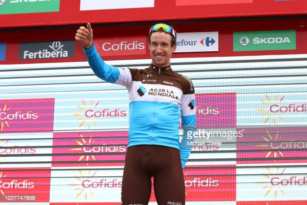 Podium / Alexandre Geniez of France and Team AG2R La Mondiale / Celebration / during the 73rd Tour of Spain 2018 Stage 12 a 1811km stage from...