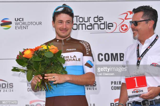 Podium / Alexis Gougeard of France and Team AG2R La Mondiale / Celebration / during the 72nd Tour de Romandie 2018, Stage 5 a 181,8km stage from...