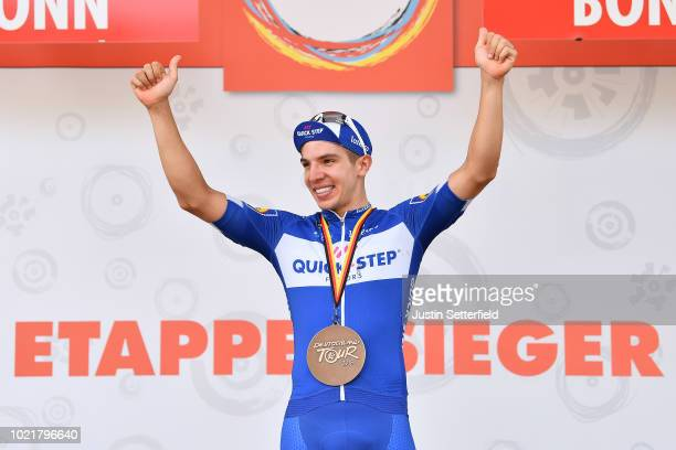 Podium / Alvaro Jose Hodeg of Colombia and Team Quick-Step Floors / Celebration / during the 33rd Deutschland Tour 2018, a 157km stage from Koblenz...