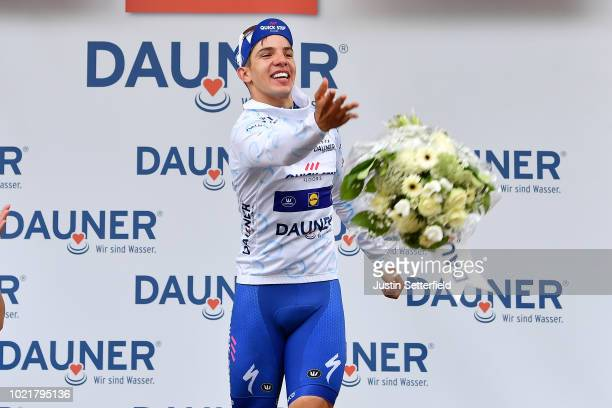 Podium / Alvaro Jose Hodeg of Colombia and Team QuickStep Floors White Best Young Rider Jersey / Celebration / during the 33rd Deutschland Tour 2018...