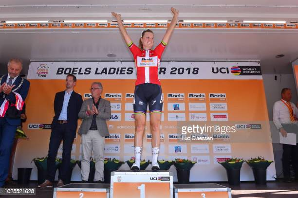Podium / Amalie Dideriksen of Denmark and Team Boels Dolmans Cycling Team / Celebration / during the 21st Boels Rental Ladies Tour 2018, Stage 4 a...