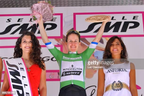 Podium / Amanda Spratt of Australia and Team Mitchelton-Scott Green Mountain Jersey / Celebration / Champagne / during the 29th Tour of Italy 2018 -...