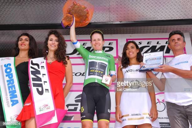 Podium / Amanda Spratt of Australia and Team Mitchelton-Scott / Green points jersey Celebration / during the 29th Tour of Italy 2018 - Women, Stage 9...