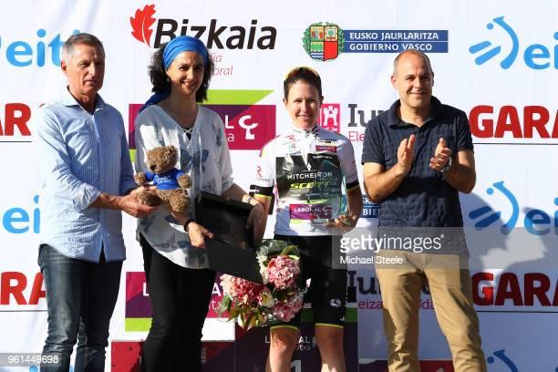 Podium / Amanda Spratt of Australia and Team Mitchelton-Scott White Leader Jersey / Celebration / Trophy / during the 31st Women WT Emakumeen. Bira...