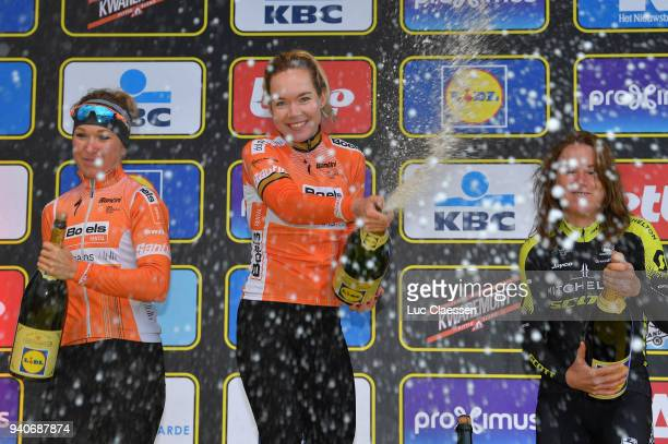 Podium / Amy Pieters of The Netherlands and Boels - Dolmans Cycling Team / Anna Van Der Breggen of The Netherlands and Boels - Dolmans Cycling Team /...