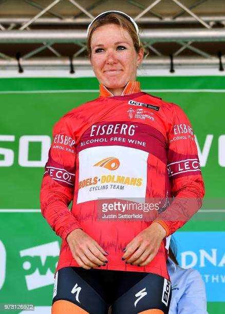 Podium / Amy Pieters of The Netherlands and Boels - Dolmans Cycling Team Red Sprints Jersey / Celebration / during the 5th OVO Energy Women's Tour...