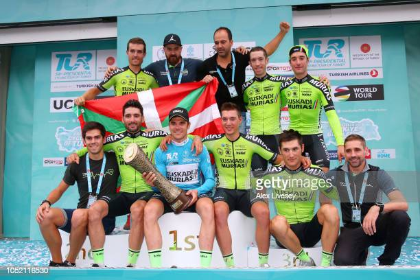 Podium / Ander Barrenetxea Uriarte of Spain / Mikel Aristi Gardoki of Spain / Enrique Sanz Unzue of Spain / Sergio Rodriguez Reche of Spain / Eduard...