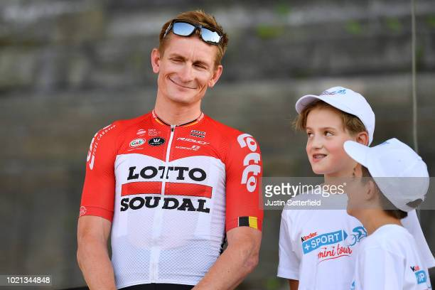 Podium / Andre Greipel of Germany and Team Lotto Soudal / during the 33rd Deutschland Tour 2018 Team Presentation / Deine Tour / on August 22 2018 in...