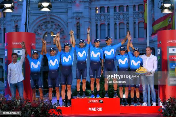 Podium / Andrey Amador of Costa Rica / Winner Anacona of Colombia / Daniele Bennati of Italy / Richard Carapaz of Ecuador / Imanol Erviti of Spain /...