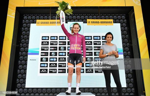 Podium / Anna Van Der Breggen of The Netherlands and Boels - Dolmans Cycling Team UCI Leaders Jersey / during the 5th La Course 2018 - by Le Tour de...