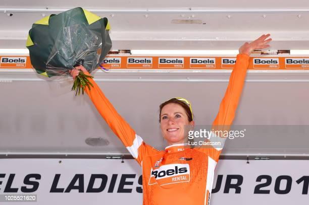 Podium / Annemiek Van Vleuten of Netherlands and Team Mitchelton - Scott Orange leader jersey / Celebration / during the 21st Boels Rental Ladies...
