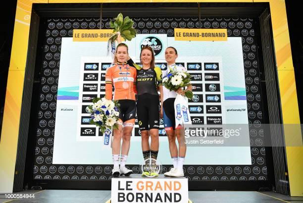 Podium / Annemiek van Vleuten of The Netherlands and Team Mitchelton-Scott / Anna Van Der Breggen of The Netherlands and Boels - Dolmans Cycling Team...