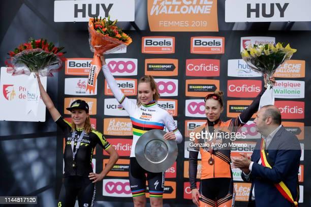 Podium / Annemiek van Vleuten of The Netherlands and Team Mitchelton-Scott / Anna van der Breggen of The Netherlands and Boels Dolmans Cycling Team...