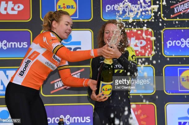Podium / Annemiek Van Vleuten of The Netherlands and Team MitcheltonScott / Anna Van Der Breggen of The Netherlands and Boels Dolmans Cycling Team /...