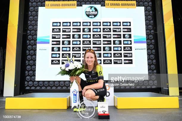 Podium / Annemiek van Vleuten of The Netherlands and Team Mitchelton-Scott / Celebration / Trophy / during the 5th La Course 2018 - by Le Tour de...