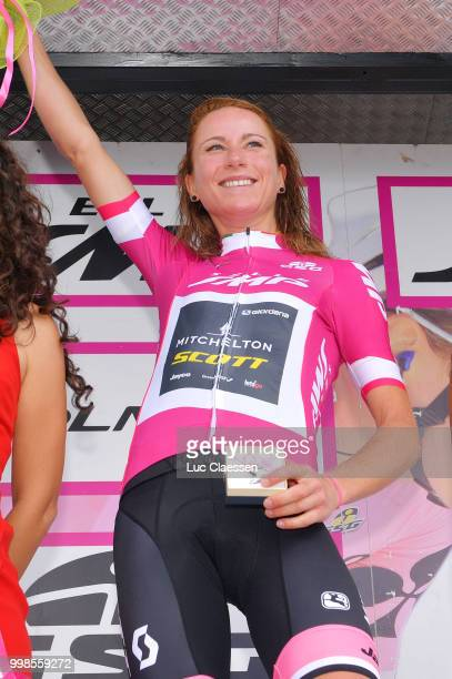 Podium / Annemiek van Vleuten of The Netherlands and Team Mitchelton-Scott / Celebration / during the 29th Tour of Italy 2018 - Women, Stage 9 a...