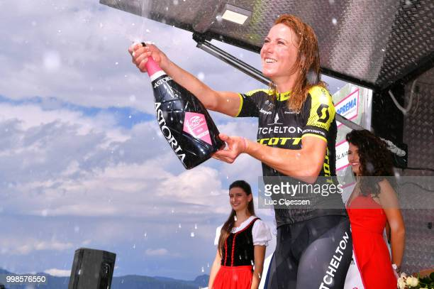 Podium / Annemiek van Vleuten of The Netherlands and Team MitcheltonScott / Celebration / Champagne / during the 29th Tour of Italy 2018 Women Stage...
