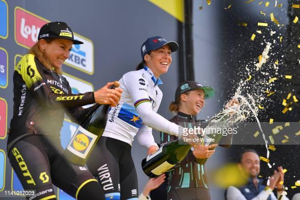 Podium / Annemiek Van Vleuten of The Netherlands and Team Mitchelton-Scott / Marta Bastianelli of Italy and Team Virtu Cycling European Champion...