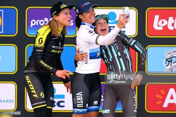 Podium / Annemiek Van Vleuten of The Netherlands and Team MitcheltonScott / Marta Bastianelli of Italy and Team Virtu Cycling European Champion...