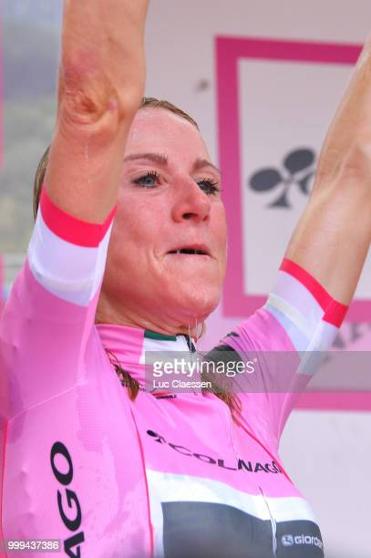 Podium / Annemiek van Vleuten of The Netherlands and Team Mitchelton-Scott Pink Leader Jersey / Celebration / during the 29th Tour of Italy 2018 -...