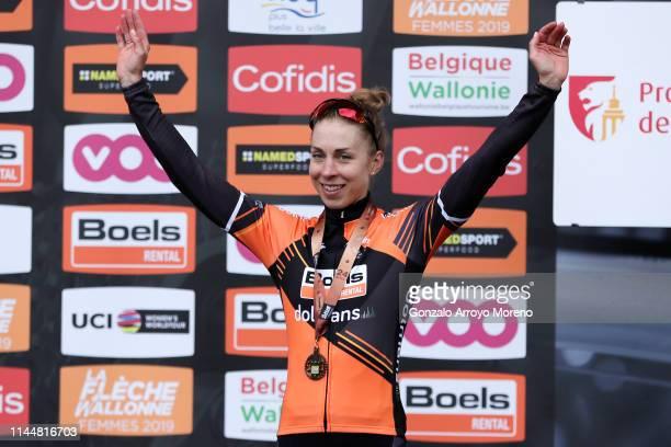 Podium / Annika Langvad of Denmark and Boels Dolmans Cycling Team / Celebration / during the 22nd La Fleche Wallonne 2019, Women Elite a 118,5km race...