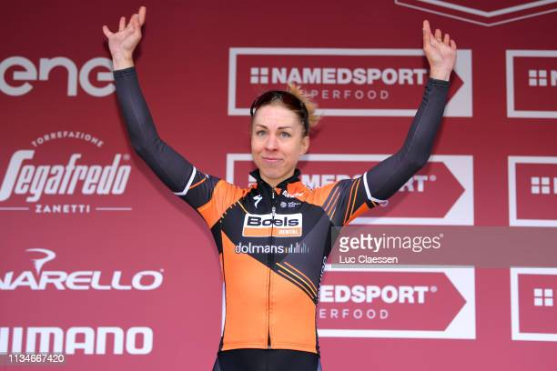 Podium / Annika Langvad of Denmark and Boels Dolmans Cyclingteam / Celebration / during the 5th Strade Bianche 2019, Women a 136km race from Siena to...