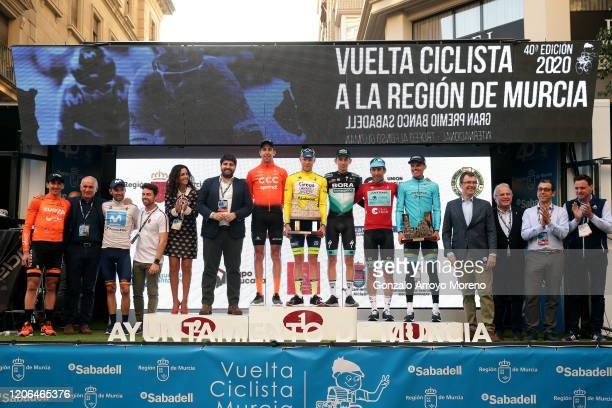 Podium / Antonio Jesus Soto of Spain and Team Fundacion - Orbea Best Rider of Murcia / Alejandro Valverde Belmonte of Spain and Movistar Team...