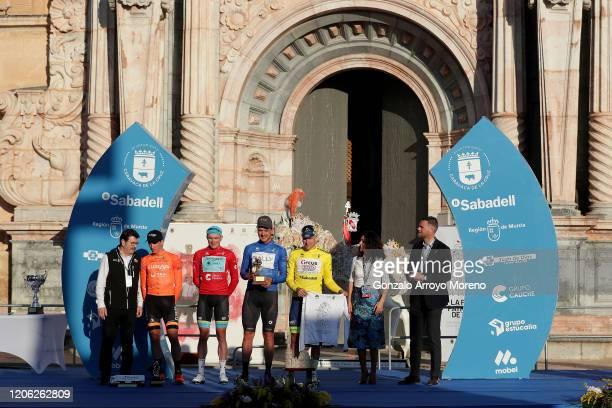 Podium / Antonio Jesus Soto of Spain and Team Fundacion - Orbea / Nikita Stalnov of Kazahkstan and Astana Pro Team Red Mountain Jersey / Adam De Vos...