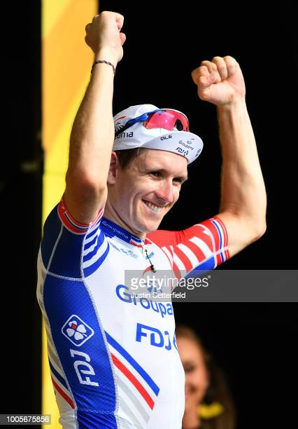 Podium / Arnaud Demare of France and Team Groupama FDJ / Celebration / during the 105th Tour de France 2018, Stage 18 a 171km stage from...